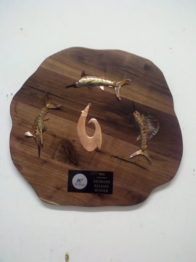 copper fishing trophies