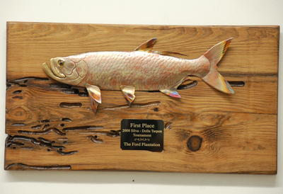 copper fish art tarpon