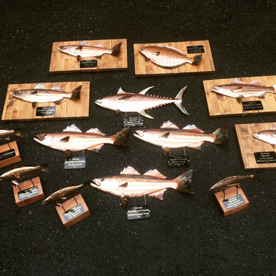 copper fish art trophies
