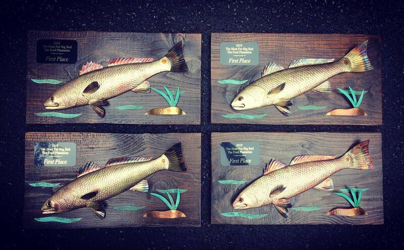 copper art fishing trophies awards redfish