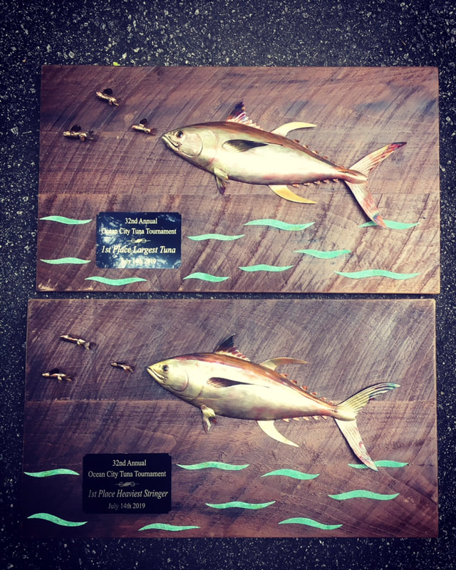 copper tuna fish art trophies
