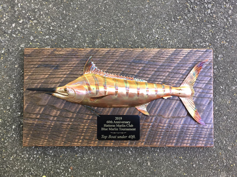 copper art fish trophy blue marlin