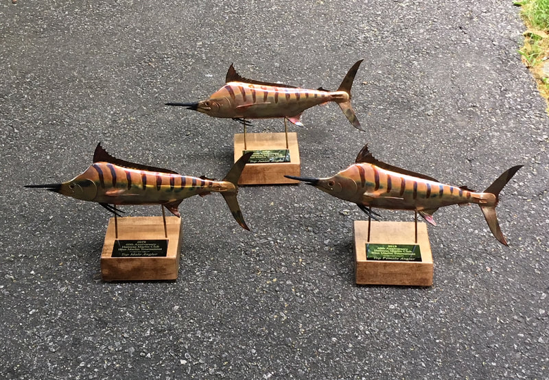 copper art fish trophies blue marlin